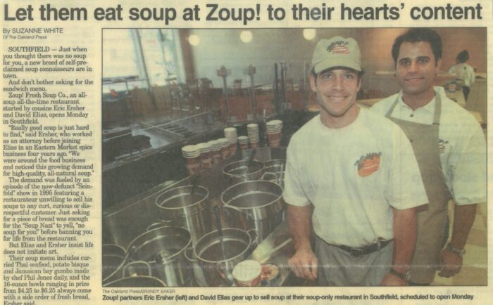 Zoup!'s Founders before opening the first soup-only restaurant